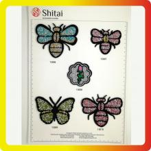 Bees & Butterfly Rhinestone Patches med hot fix