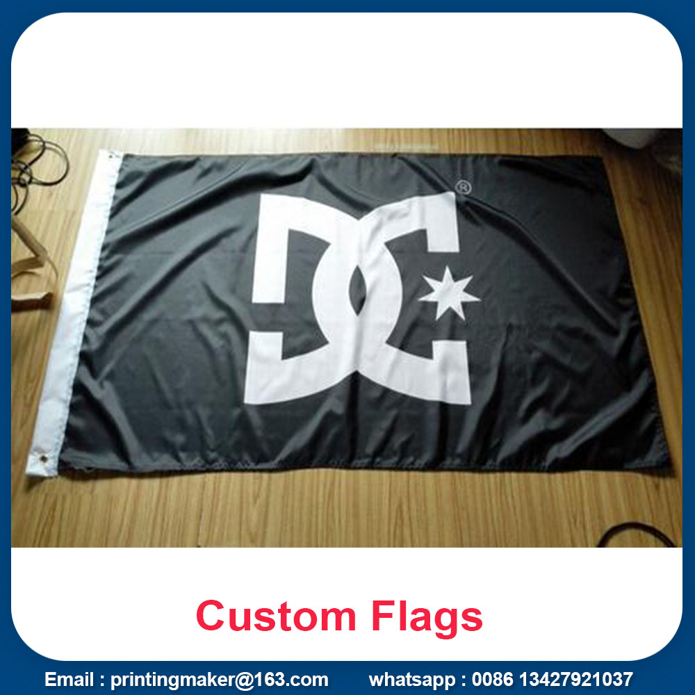 Custom 100% Polyester Fabric Color Advertising Flags