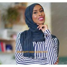 Marca de moda tingyu mujeres básica whosale lightweigth amplia chal burbuja impresa llanura hijab bufanda