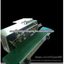 Máquinas de vedação de saco de plástico contínuo Máquina de vedação de calor para sacos de zíper, sacos de plástico