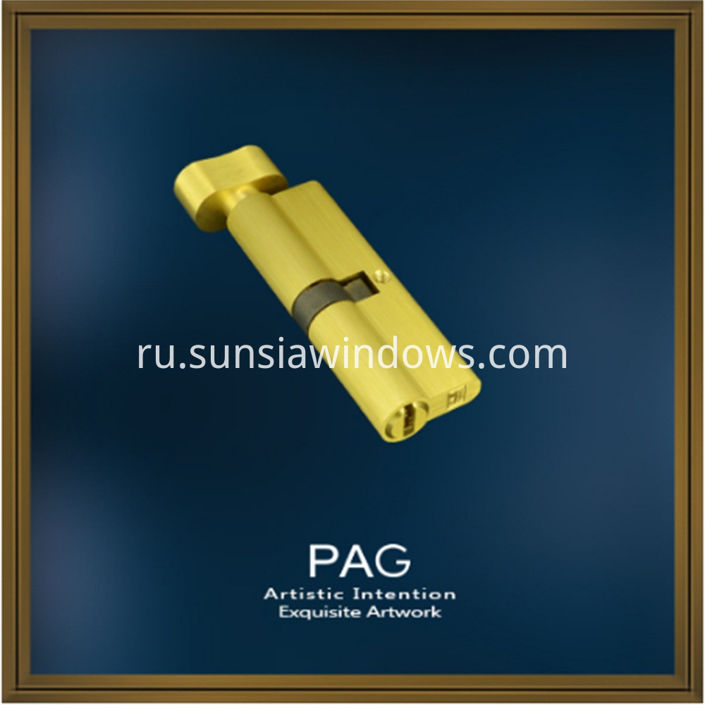 Pure Brass Turn Knob and Single Side Key Lock Cylinder