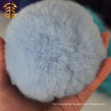 christmas lovely rabbit fur pom poms ball with handcraft items rabbit fur ball home decoration