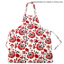 Patrón de flores floral por encargo impreso 2 bolsillos cocina de sarga de algodón cocina babero delantal