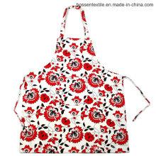 На заказ цветочные цветы шаблон печатных 2 кармана хлопок Twill кухни кулинария Bib фартук