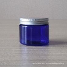 Pot cosmétique bleu clair de pot de pot de 100g Pet