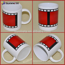 Sunmeta 11OZ sublimation white mug with film color changing At Low Price Wholesale From Sunmeta