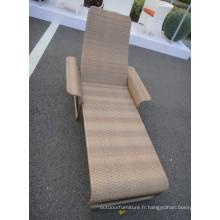 Chaise moderne Sun Lounge chaise Rotin intérieur