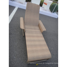 Moderna Chaise Lounge sol cadeira Rattan Indoor