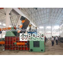 Hydraulic scrap car baler press