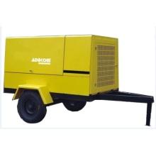 Compresseur à air à vis portable motorisé à roues mobiles diesel (PUD17-13)