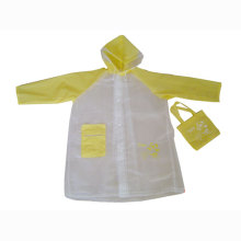 Kids pvc eva Rainwear with Pocket
