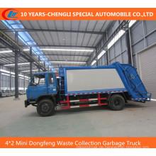 4 * 2 Mini Dongfeng Müllsammelwagen, komprimierter Müllwagen