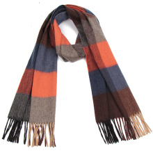 Latest design plaid luxury cashmere infinity scarf
