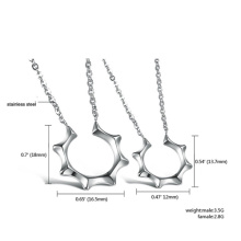 Fashion jewelry sets necklace earrings silver for women masters sun stainless steel jewelry sets woman