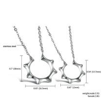 Ювелирные наборы ожерелье серьги серебро для женщин ювелирные изделия нержавеющей стали мастерами солнце устанавливает женщина