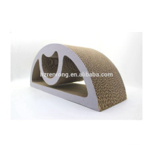 Горячий продавать кривая кошка скребет коврик кошка Скребок доска игрушки с кошачьей мятой КТ-4047