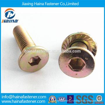 Color Zinc-plated hex Countersunk Head Socket Bolt