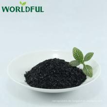 Humatendünger bester Qualität aus natürlichem Leonardit raffiniertes Kaliumhumat glänzend schwarze Flocke