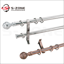 Special design stainless steel curtain rod with round ball curtain final