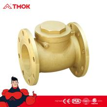 Válvula de retención de doble placa de brida doble Válvula de retención de latón de brida doble de alta calidad
