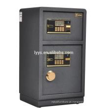 caixa de segurança à prova de fogo de porta dupla
