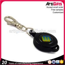 Porte-clés rétractable de mode en métal personnalisé de style classique