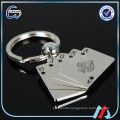 Fashion color poker Custom shape Keychain paint cheap keyholder