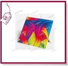 Coaster verre carré taille Sublimation avec Logo Design promotion
