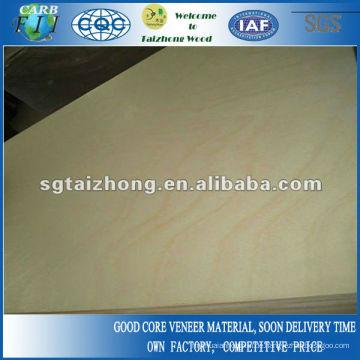Indoor Usage 3-lagige Pine Sperrholzplatte