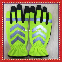 Police Security School Crossing Guard Traffic Safety Reflective Gloves