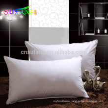 Hotel pillow/Wholesale cheap white polyester microfiber filling hotel/hospital pillow