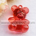 Transparent Lovely Artificial Bear-shaped Bead Pendant for Key Chain