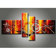 Canvas Wall Art Stretched Abstract Oil Painting