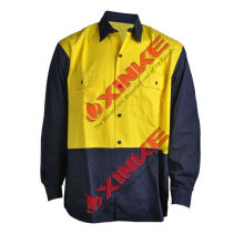 AS/NZS 4399 Orange Cotton Sunproof Safety Work Shirt For Australia market