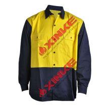 Как/nzs 4399 оранжевый хлопок непроницаемый безопасности работы рубашка для рынка Австралии