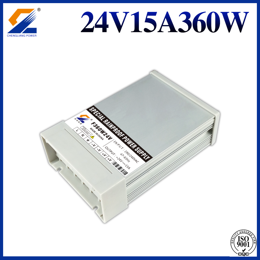 24V15A360W rainproof led driver