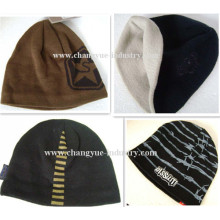 Jacquard OEM knitted acrylic winter hat