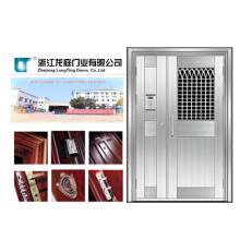 Porte d'acier inoxydable d'appartement de conception plate (LTSS-6006)