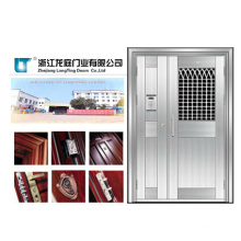 Flat Design Apartment Stainless Steel Door (LTSS-6006)