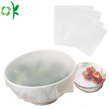 Silikonsträcka BPA Free Food Covers Seal Wrap