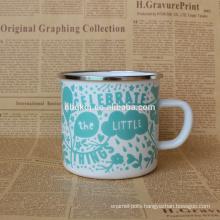 china supplier fashion custom logo enamel metal mug cup