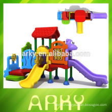 2015 hot selling commercial kids play slide outdoor garden play house