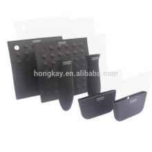 6-pack silicone hot handle holder ,potholder,table mat , assist handle set
