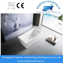 Rectangular acrylic shower tub