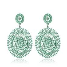 Trendy Bohemia Style Resin Stone Earring (XER13091)