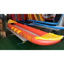 Inflatable PVC Hull Orange Kayak