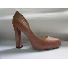 Fashion High Heel Chuncky Ladies Dress Shoes (HCY03-016)