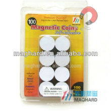 D19mm Peel & Stick Magnetic Coins