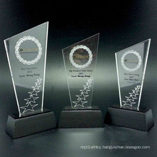Customized Clear Acrylic Award Display, Acrylic Award Holders