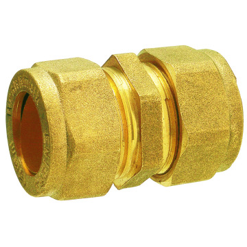 Forged brass straight coupler